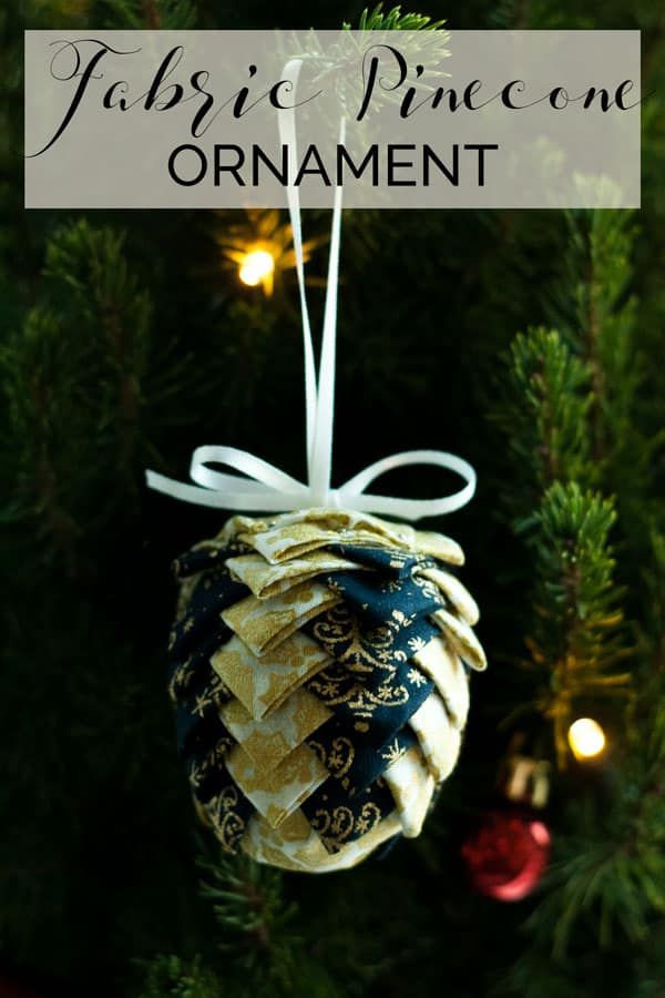 Full step by step tutorial with images for creating these fabric pinecone ornaments for the Christmas Tree. Simple to make and NO SEW!
