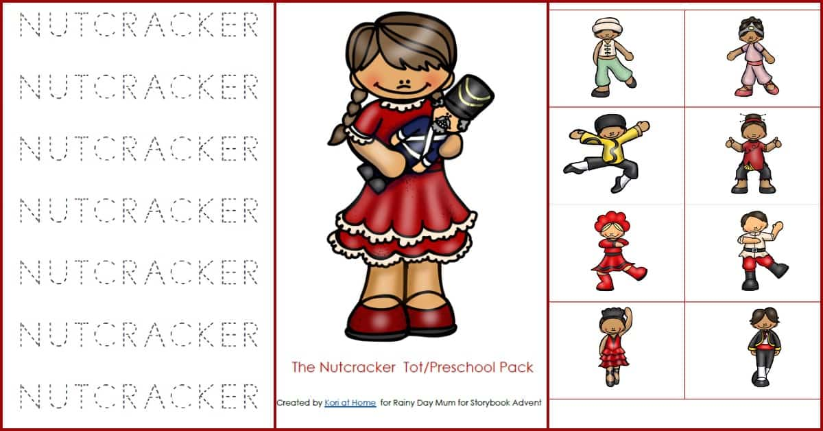 Nutcracker Printables Pack for Toddlers and Preschoolers