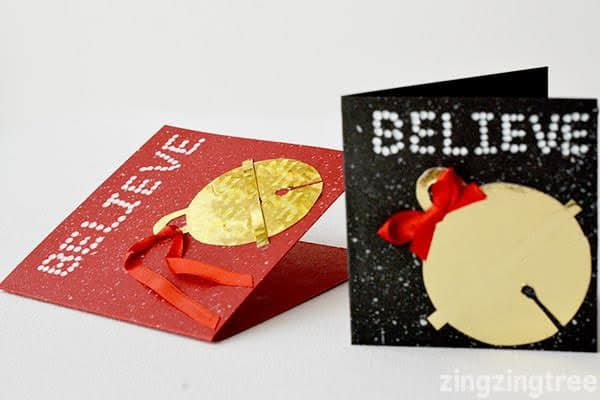 Create This Fun And Easy Polar Express I Believe Inspired Christmas Card Craft That