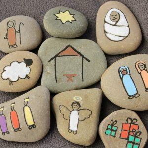 DIY Nativity Story Stones for Story Telling with Kids