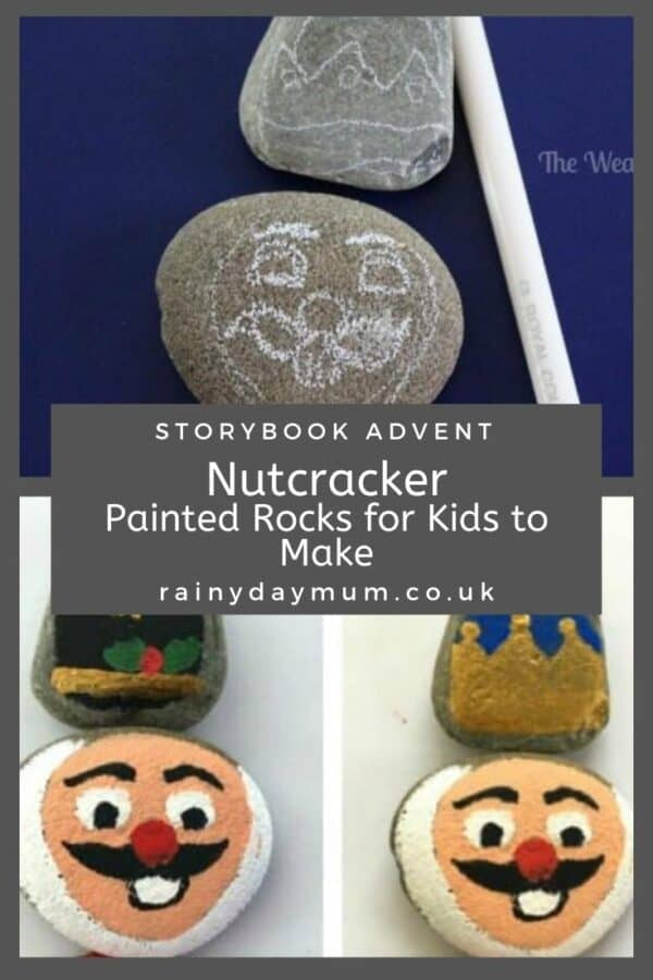 Nutcracker Story Stones and Painted Rock Puzzle for Kids to Make