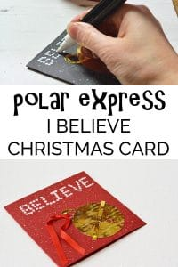 "Create this fun and easy Polar Express ""I believe"" inspired Christmas Card Craft that is ideal to make with children or for children."