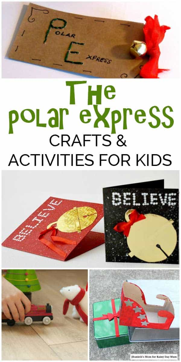 Fun ideas for Christmas with these Polar Express Activities and Crafts for Kids. From Preschoolers and toddlers through to STEM investigations for grades 2+