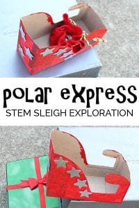 Fun Science and Engineering investigation based on the book The Polar Express, exploring and investigating how to launch the sleigh!