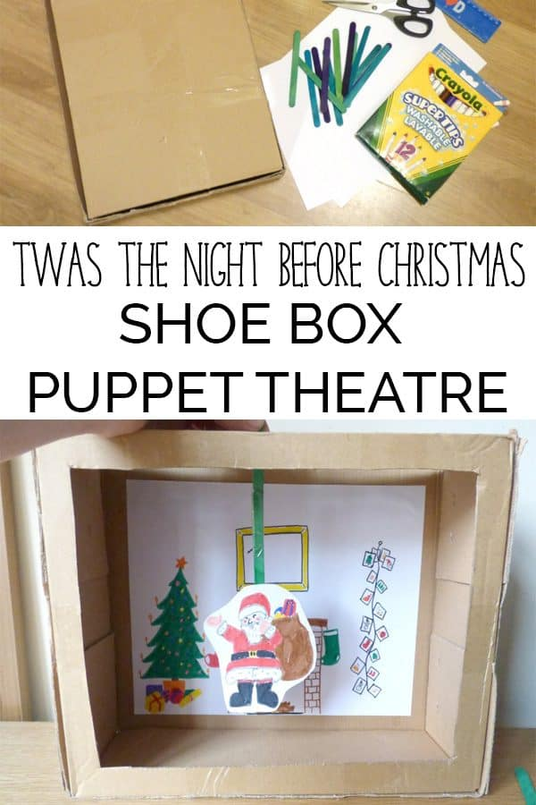 Simple Christmas Craft and Play activity for Kids. DIY puppet theatre