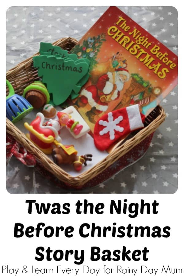 Twas the Night Before Christmas Story Basket