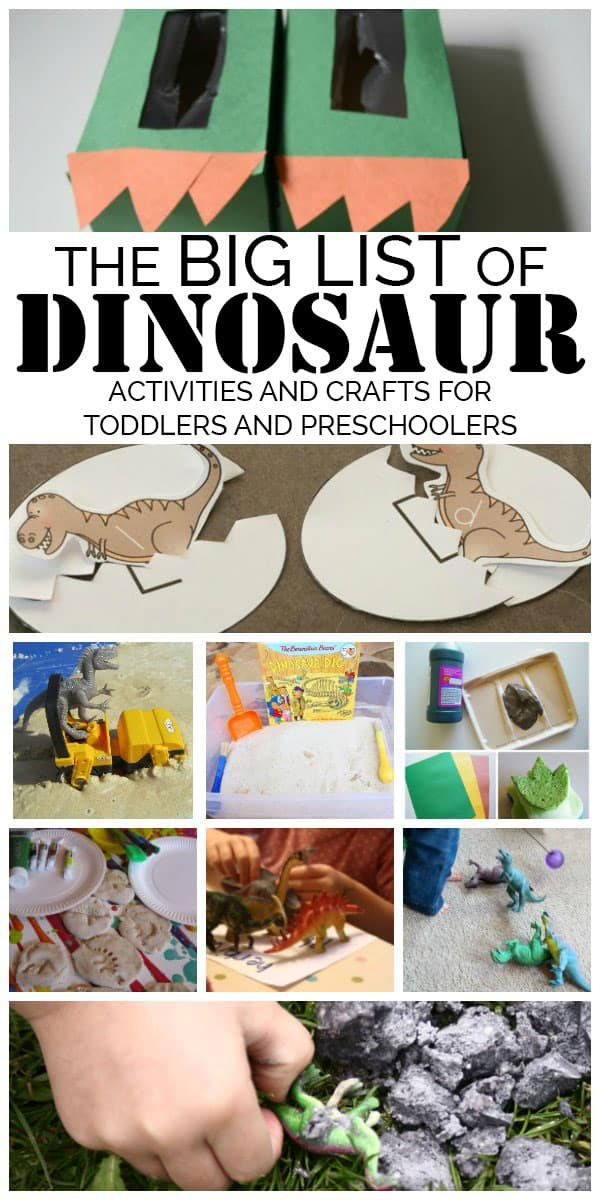 Discover, enjoy, play and learn with this BIG list of dinosaur crafts and activities for toddlers and preschoolers that can't be missed.