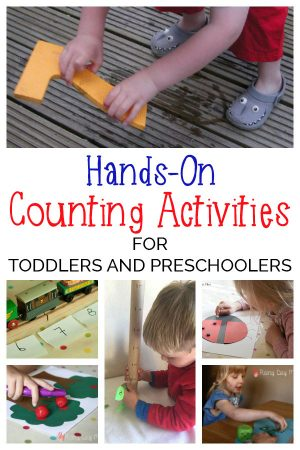 A selection of hands-on and DIY maths games for Toddlers and Preschoolers focusing on Number work, counting and introducing early addition and subtraction.