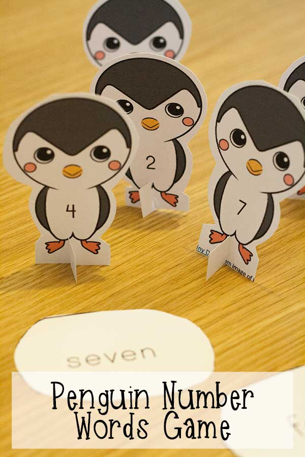 Penguin Number Names Activity