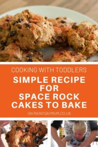 space rock cakes recipe to cook with toddlers and older kids