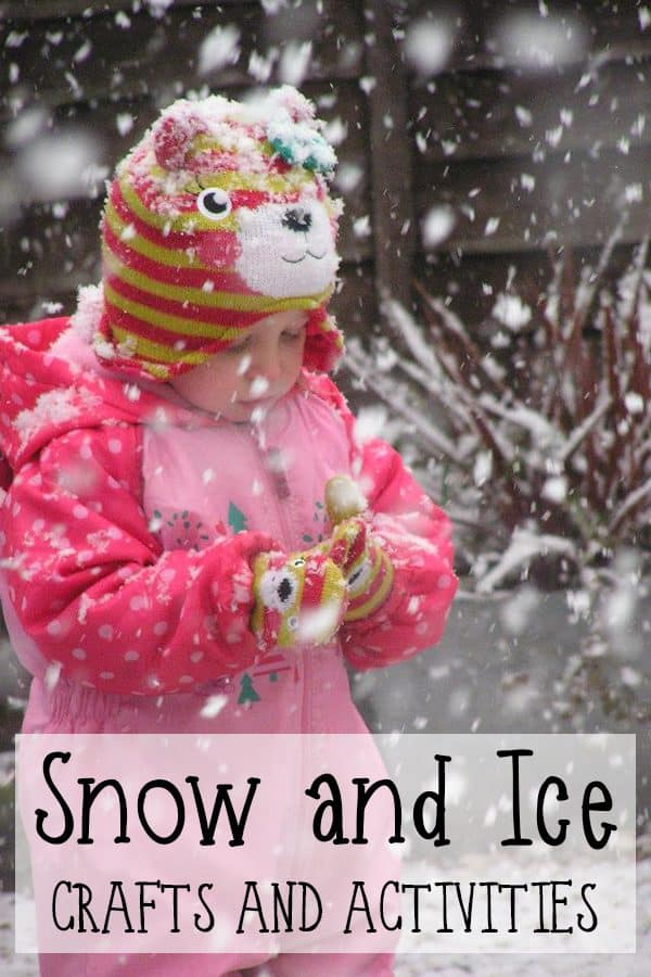 30+ Snow crafts and activities for toddlers and preschoolers including literacy, maths, science, sensory, play and motor skills.