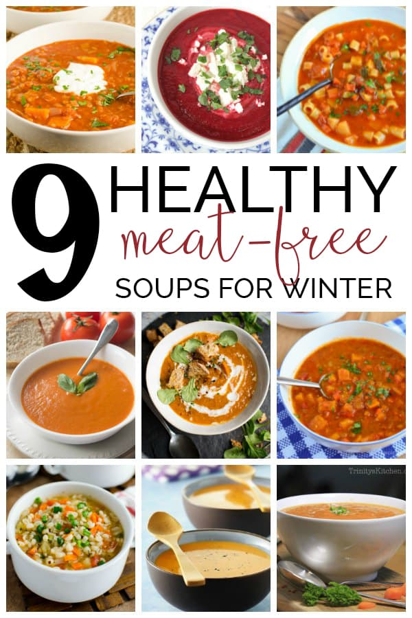 Warm yourself from the inside with these healthy meat-free soups ideal for after a winters walk or lunch time treat for yourself and family.
