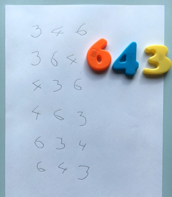 Ordering 3 digit numbers