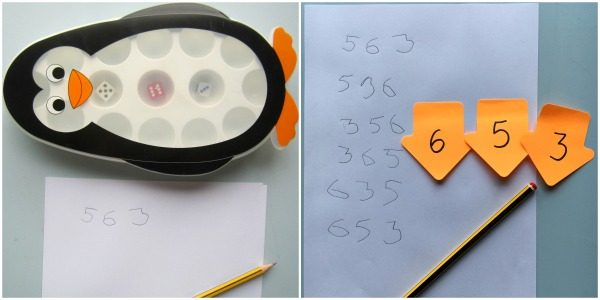 Ordering numbers with dice