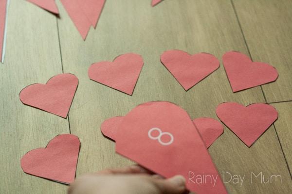 Broken Hearts Number Bonds for Valentines Themed Maths