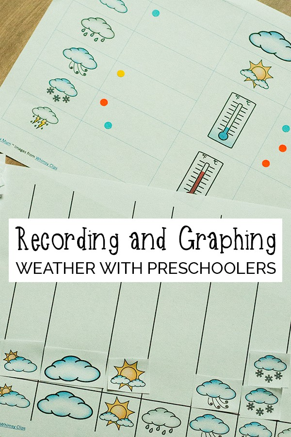 Guide and lesson plan on recording and graphing weather with preschoolers. Including book suggestions, circle time and resources.