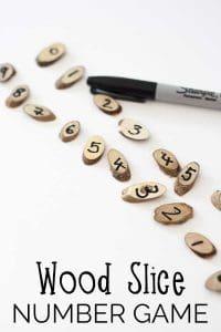 Wood Slice Number Game