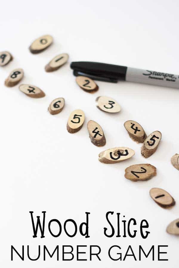 Wood Slice Number Game