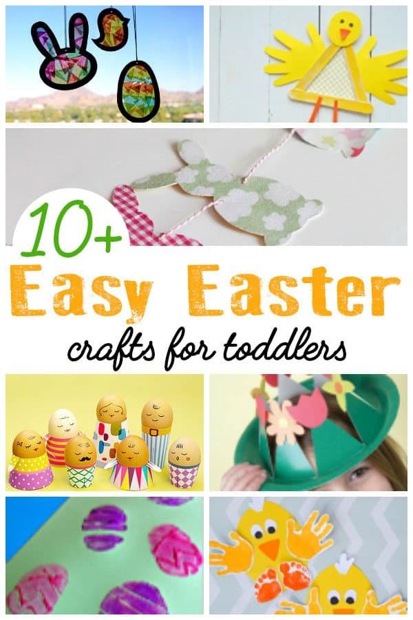 Easy Easter Crafts for Toddlers and You to do Together