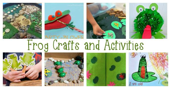 Hopping mad frog-themed crafts and activities for toddlers and preschoolers ideal for spring based learning and fun in and out of the classroom.