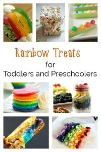 Serve a rainbow to your toddlers and preschoolers or get them to give you a hand in the kitchen with these delicious rainbow treat recipes for kids and you.