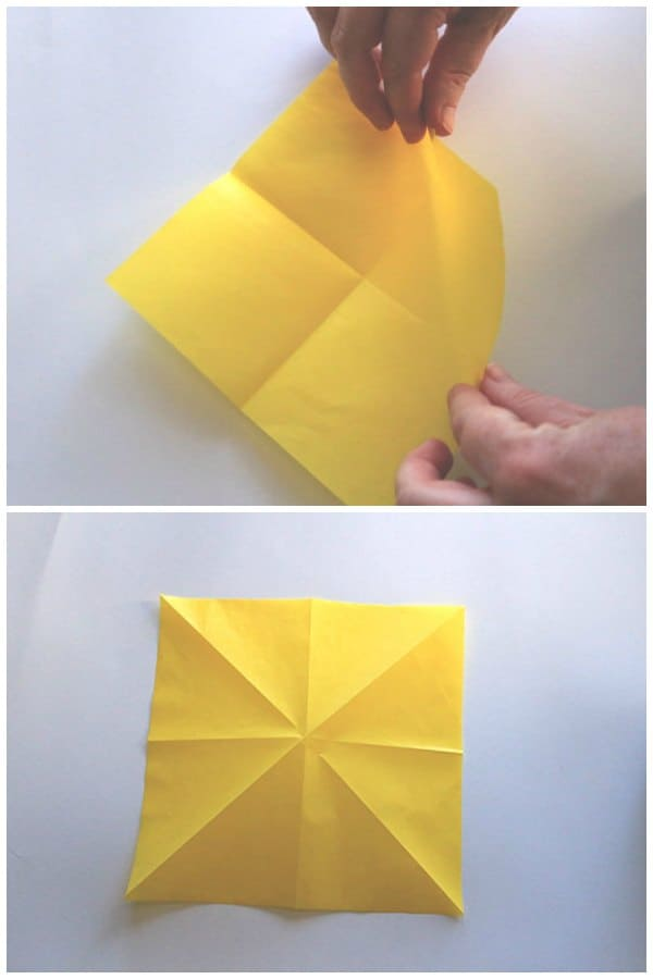 Origami Tulip Instructions and Diagram | 900x600