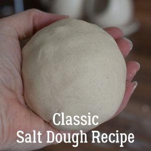 a ball of salt dough ready to use with kids using a classic 1950s recipe