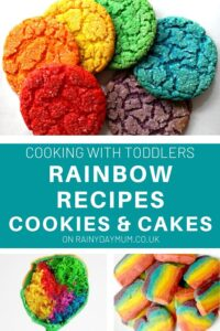 cooking with toddler rainbow recipes cookies and cakes