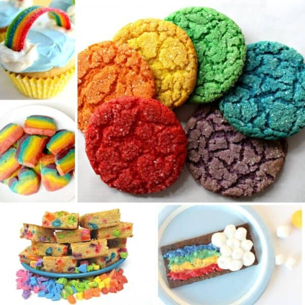 easy rainbow recipes to cook with toddlers and preschoolers for spring and st patrick's day