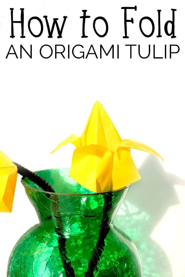 How to Fold an Origami Tulip