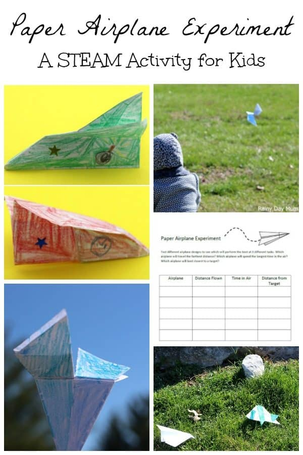 STEAM Paper Airplane Experiment to Challenge your Kids