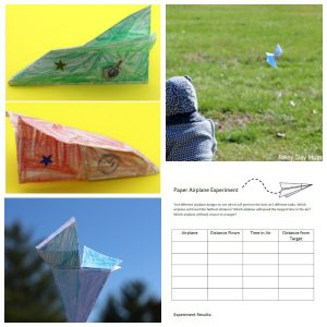 Designing a paper airplane experiment is a great STEAM activity for kids.