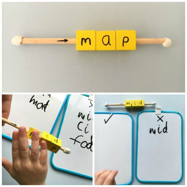 Simple to set up real vs nonsense words phonics activity ideal for helping children to apply phonic knowledge & hands-on preparation for Year 1 phonics test