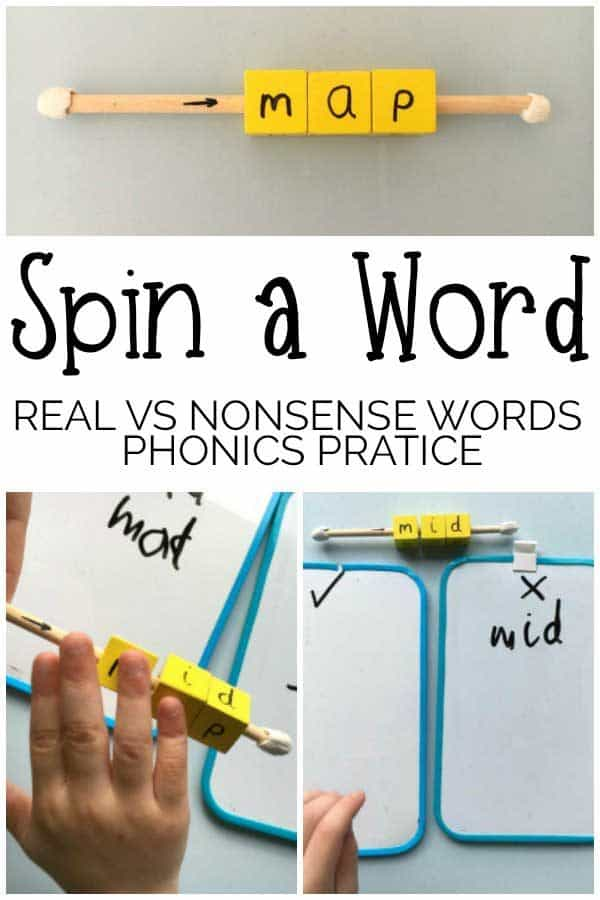 Spin A Word – Real vs Nonsense Words