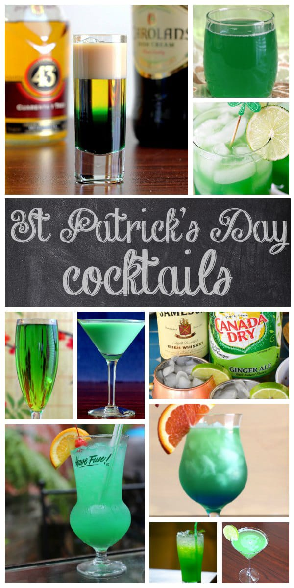 Create your own cocktail menu for your St Patrick's Day Party with these 20 delicious themed cocktails that will excite the taste buds!