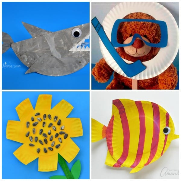 30+ Cute and Easy Summer Paper Plate Crafts for Kids