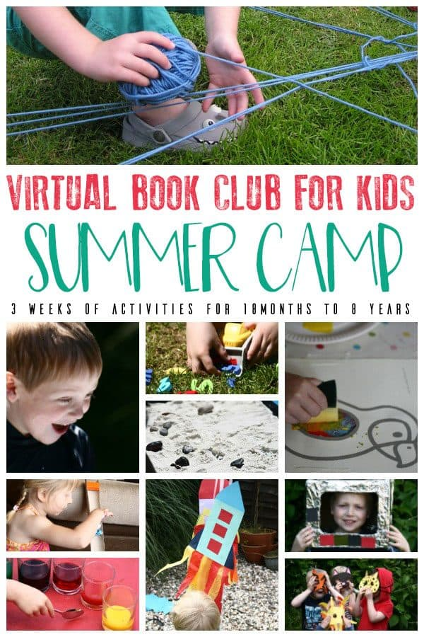 Book Based Summer Camp for you to do at Home