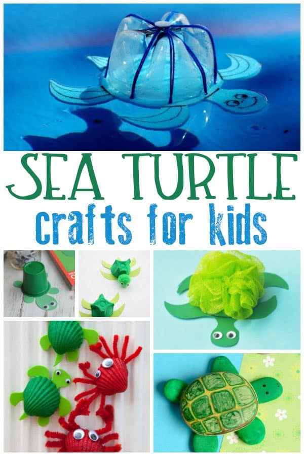 sea turtle crafts collage for kids
