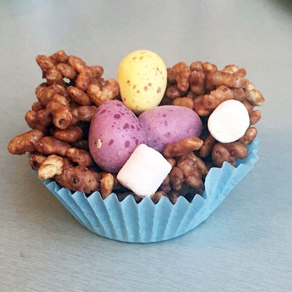 Easy Rice Crispy Chocolate Nests for Kids to Cook