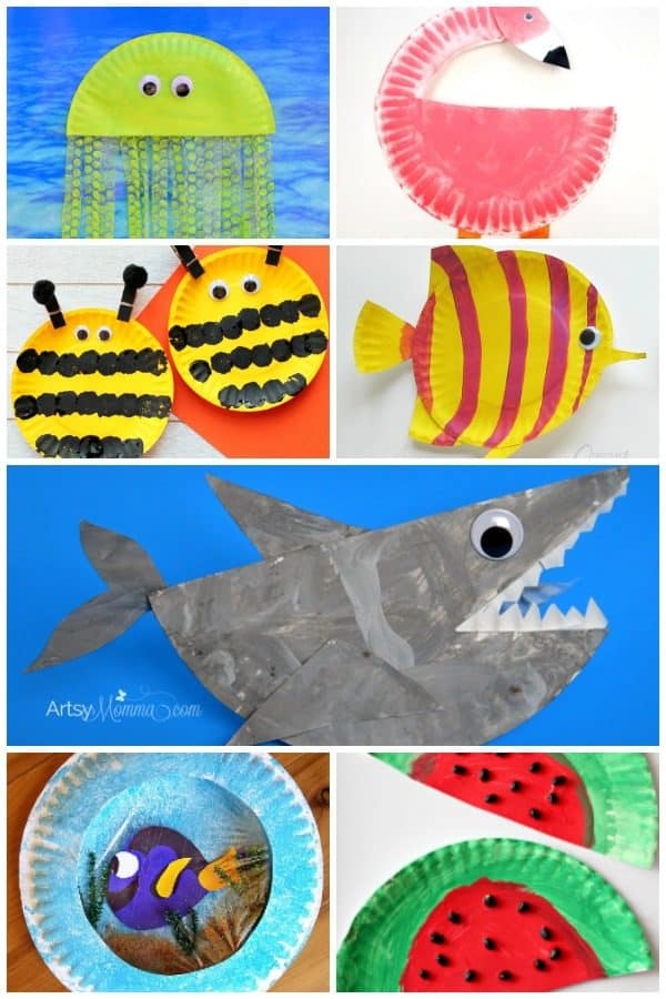Check out and make these cute and easy summer-themed paper plate crafts for kids. Themed on Under the Sea, Animals and Flowers your summer crafting sorted!