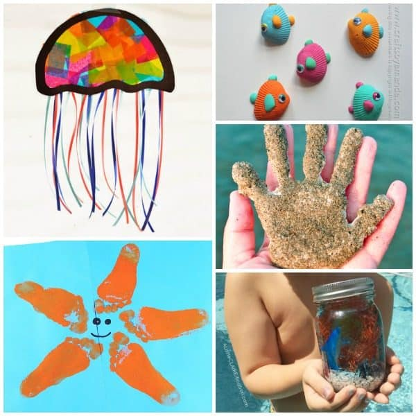 Beach themed crafts for toddlers and preschoolers for summer fun