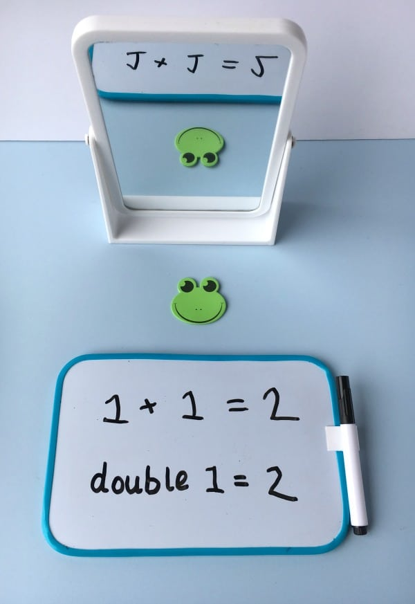 Simple to set up Maths Centre activity for home or the classroom to teach doubling ideal for use with Foundation Stage or Kindergarten.