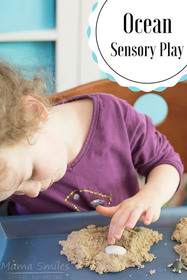 simple ocean sensory play with kids