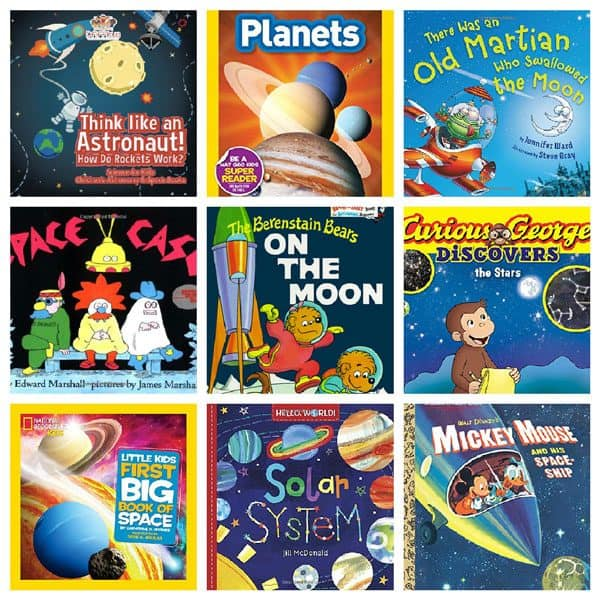 Cosmic Space Books for your fledgling astronaut, help them soar into the stars with these books for toddlers and preschoolers focused on outer space.