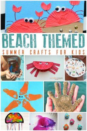 Shells, critters, sand and memories these beach themed crafts for kids are fun to dive into this summer to get creative on those long hot days.