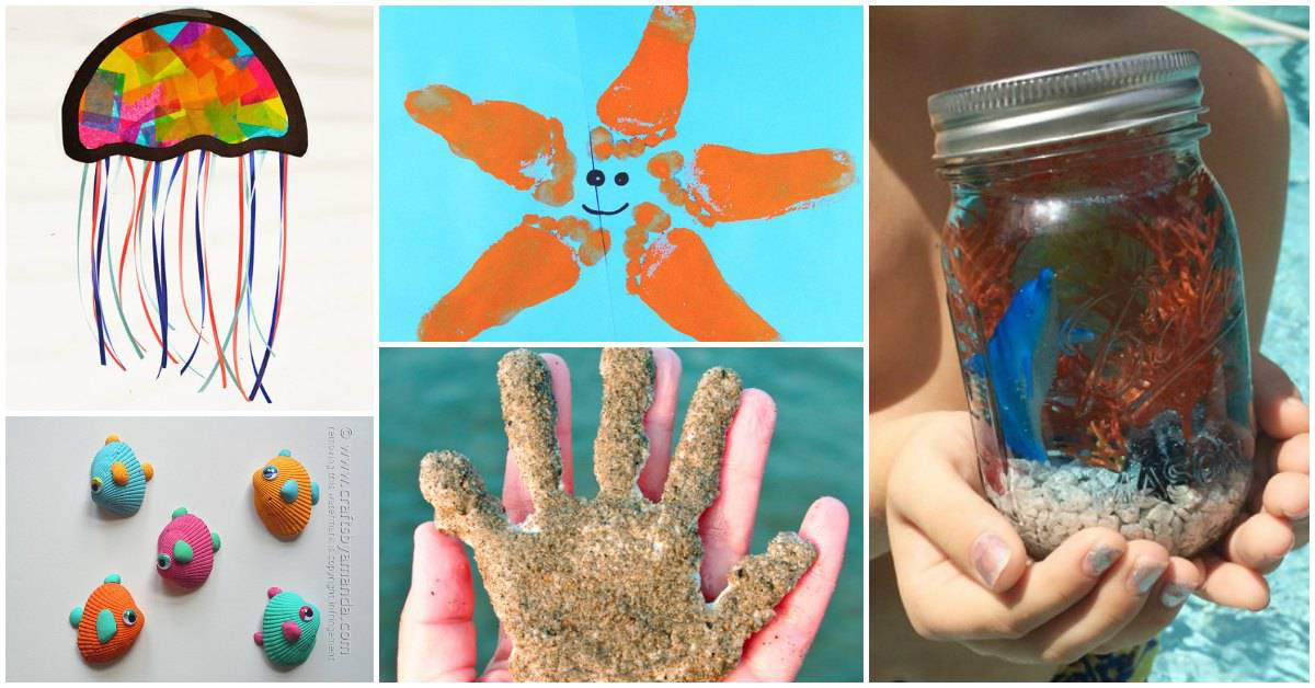 Fun Beach And Under The Sea Themed Summer Crafts For Kids