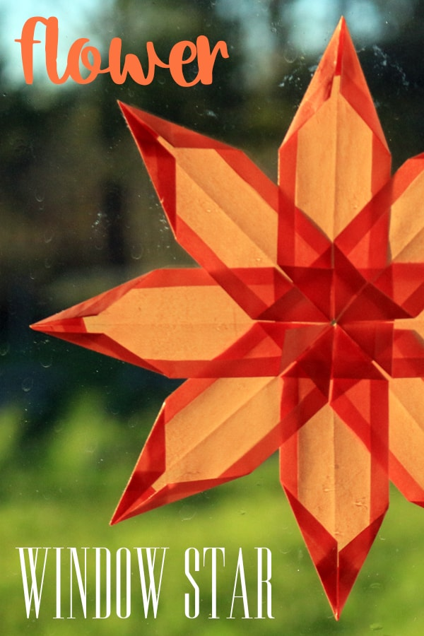 How to Fold a Paper Window Star Flower
