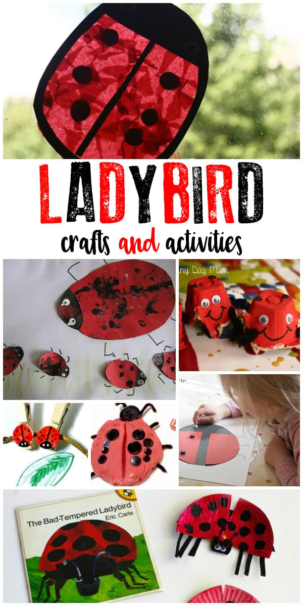 Ladybird activities and crafts for kids to create and learn with ideal for spring and summer fun.