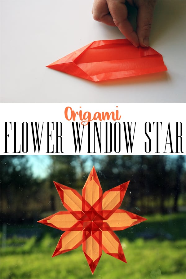 Make this beautiful Kite Paper Window Star that looks like a flower to decorate your home or classroom this summer made with origami folds.
