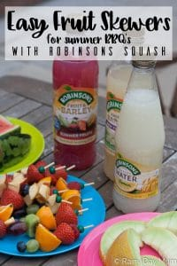 Easy Fruit Skewers for Summer BBQ's with Robinsons Squash